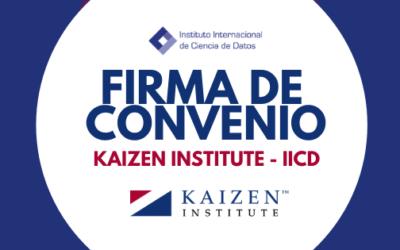 FIRMA DE CONVENIO KAIZEN INSTITUTE – IICD